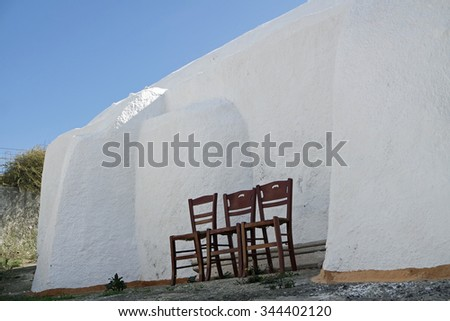 traditional greece architecutre in oia on santorini island