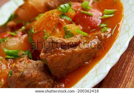 Traditional Greek  beef stifado