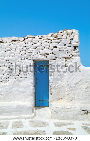 Traditional greek house on Mykonos island, Greece - stock photo
