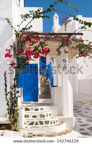 Traditional greek house on Sifnos island, Greece - stock photo