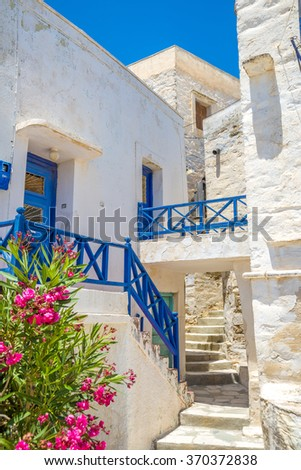 Traditional greek houses in Mykonos, Greece. Great samples od traditional  architecure.