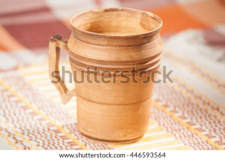 Traditional handcrafted mug