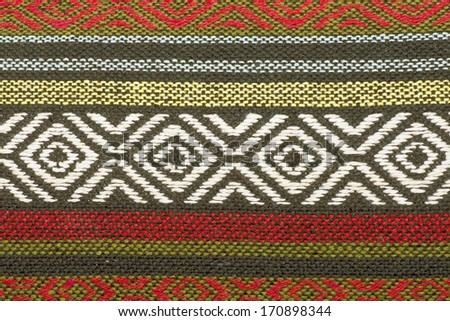 Traditional handwoven fabric, detail