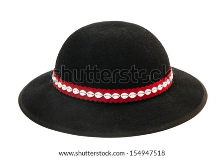 d80c6abeca9 Stock photo traditional hat of polish highlanders isolated on white  souvenir from polish mountains jpg 450x318