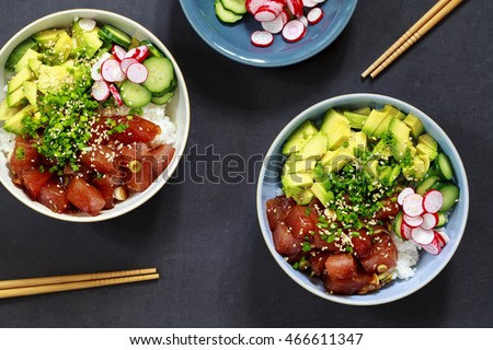 Traditional Hawaiian tuna poke