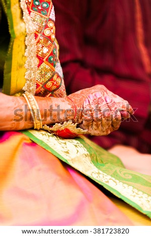 Traditional Hindu Henna Painted Hands Stock Photo Edit Now