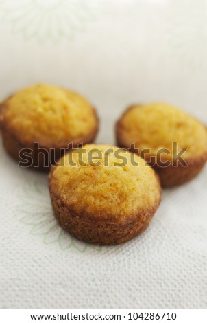 Traditional homemade brioche with carrot and shallow focus - stock photo