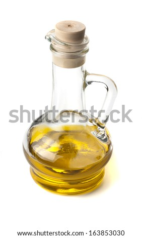 Traditional Homemade Olive Oil on a background - stock photo