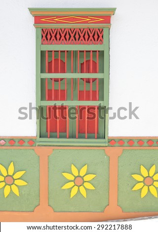 Traditional house Colombia - stock photo
