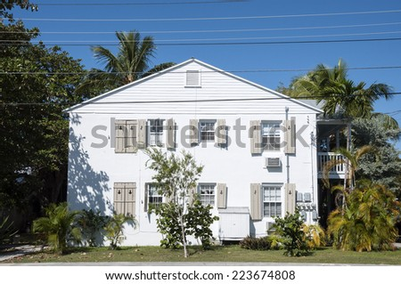 Traditional house in Key West, Florida, USA - stock photo