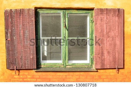 Traditional house window in Copenhagen -  Denmark - stock photo