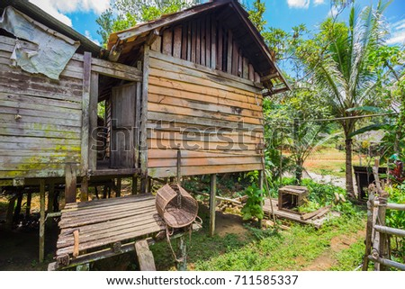 traditional houses of the native people of indonesia in village