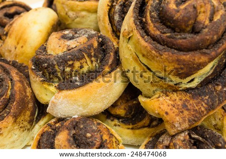 Traditional Hungarian Sweet Pastry Cocoa Snails