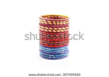 Traditional Indian bangles - stock photo