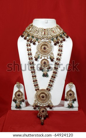 Traditional Indian jewelery, - stock photo