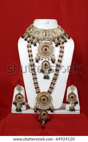 Traditional Indian jewelery, - stock photo