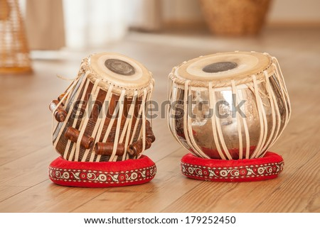 Traditional Indian tabla drums. - stock photo