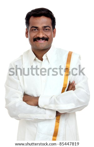 Traditional Indian young man - stock photo