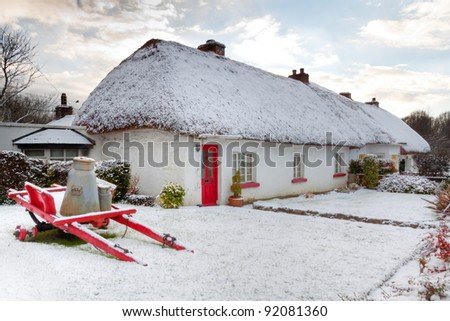 thatched cottage stock images royalty free images vectors