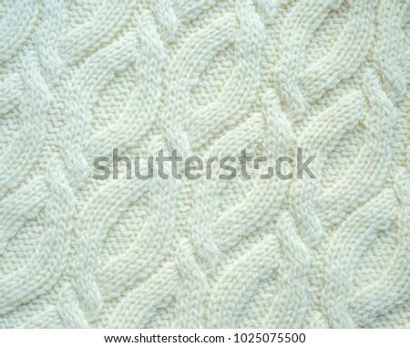Traditional Irish Knitted Pattern White Stock Photo Royalty Free