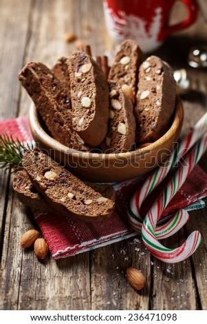 traditional Italian biscotti  - stock photo
