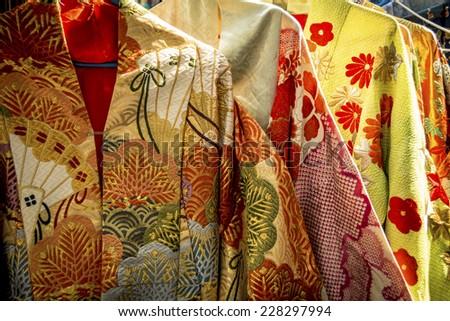 Traditional Japanese clothing - stock photo