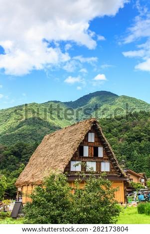 Traditional Japanese Farm House in Shirakawa-go - stock photo
