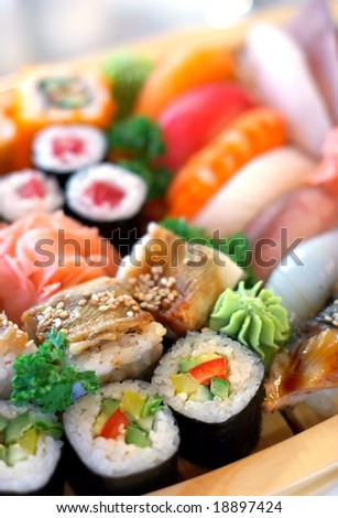 Traditional Japanese food - stock photo