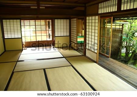 Traditional japanese interior (Kyoto) - stock photo