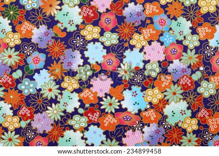 Traditional japanese pattern origami paper - stock photo