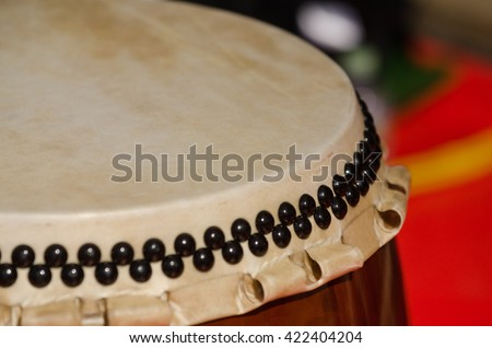 Traditional japanese percussion instrument Taiko or Wadaiko drum - stock photo