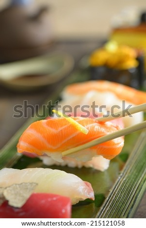 Traditional japanese sushi