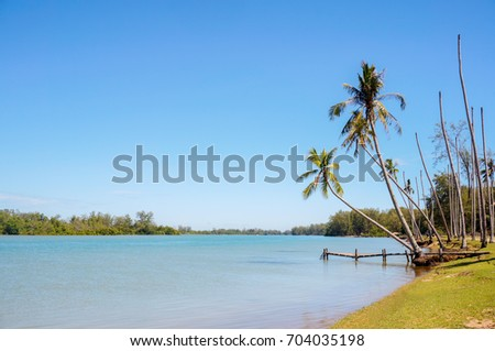 traditional jetty with blue sky