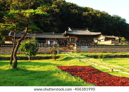 traditional Korean-style house