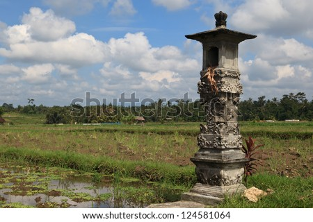 traditional landscape in Bali, Indonesia - stock photo