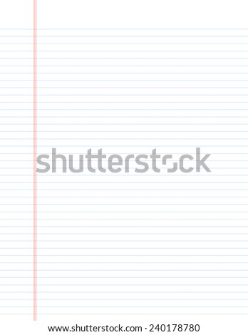 Traditional Lined Paper for School - stock photo