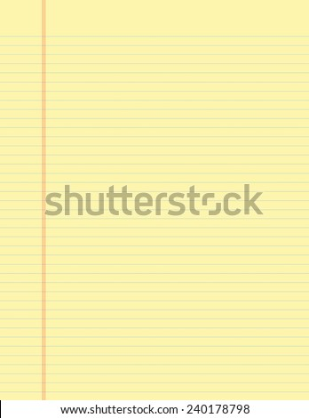 "Traditional Lined ""Yellow Pad"" Paper for School - stock photo"