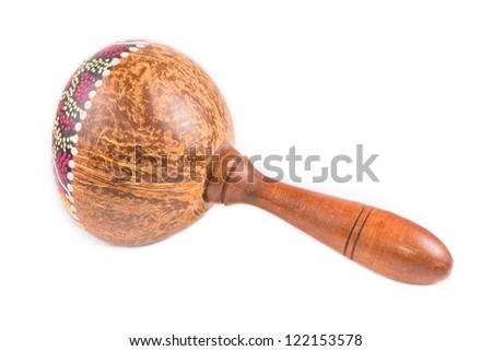 Traditional maracas isolated on white background - stock photo