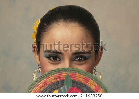 Traditional Mexican dancer from Nayarit - stock photo