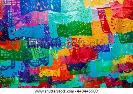 traditional mexican paper bunting decoration celebratory stock photo