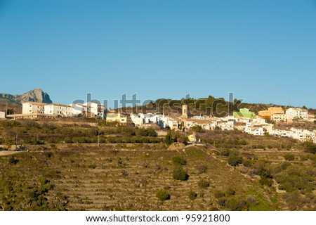 Traditional mountain village on the Costa Blanca, Spain