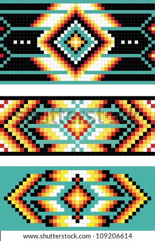 Traditional (native) American Indian pattern - stock photo