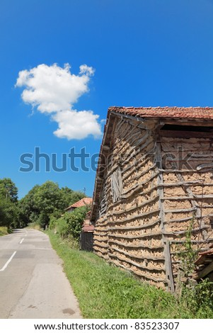 Traditional  old house in South-East Serbia or Bulgaria, Balkan Mountain - Stara Planina - stock photo
