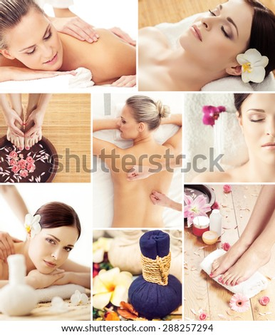 Traditional oriental rejuvenation treatments. Health care, massage, wellness, spa and Thai medicine concept. - stock photo