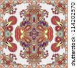 Traditional ornamental floral paisley bandanna. You can use this pattern in the design of carpet, shawl, pillow, cushion . Raster version - stock photo