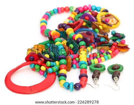 Traditional ornaments of Indian subcontinent made of clay - stock photo