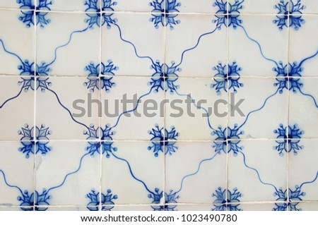 Traditional ornate portuguese decorative tiles