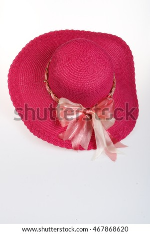 Traditional Panama Hat is isolated on a white background.