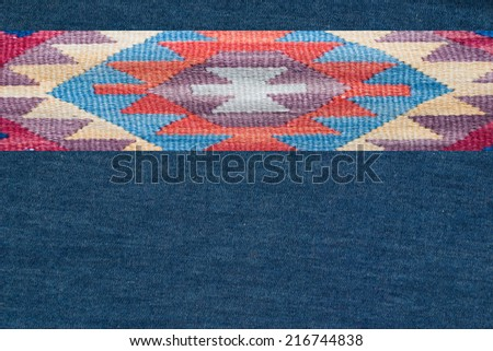 traditional pattern on textile