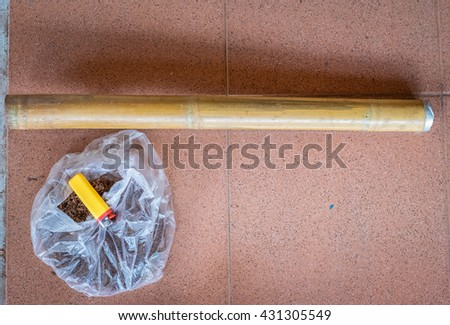 Traditional Pipe Tobacco in Vietnam made from bamboo or ceramic hookah called  dieu cay & Traditional Pipe Tobacco Vietnam Made Bamboo Stock Photo (Royalty ...